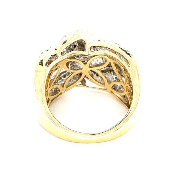 Estate Ribbon Overlap Diamond Ring
