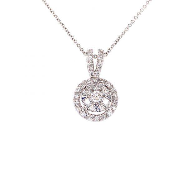 Estate Diamond Cluster Pendant by Effy