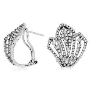 Diamond Fan Shaped Earrings