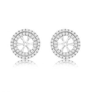 Double Halo Diamond Earring Jackets