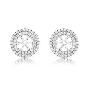 Double Halo Diamond Earring Jackets