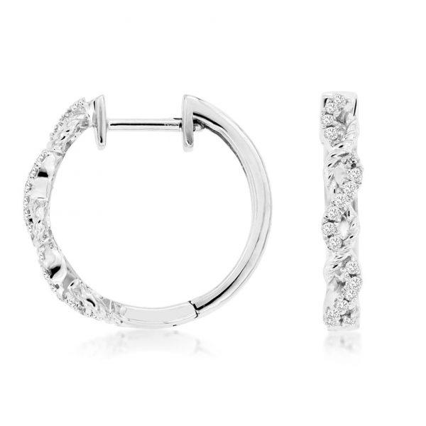 Diamond Petite Twist Hoops