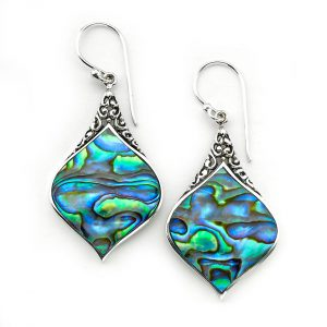 Paua Abalone Drop Earrings by Samuel B.