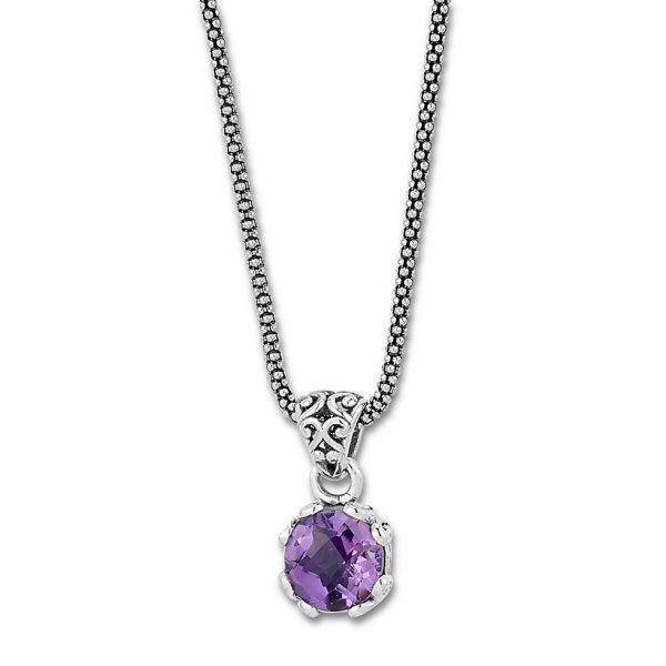 Round Gemstone Pendants by Samuel B. - Multiple Available