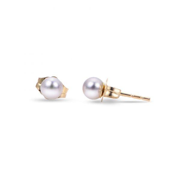 Round Akoya Pearl Stud Earrings