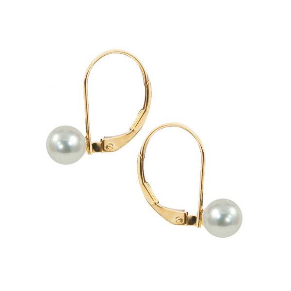 White Akoya Pearl Drop Earrings