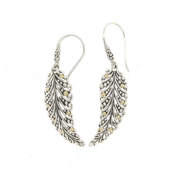 Pecan Leaf Earrings by Samuel B.