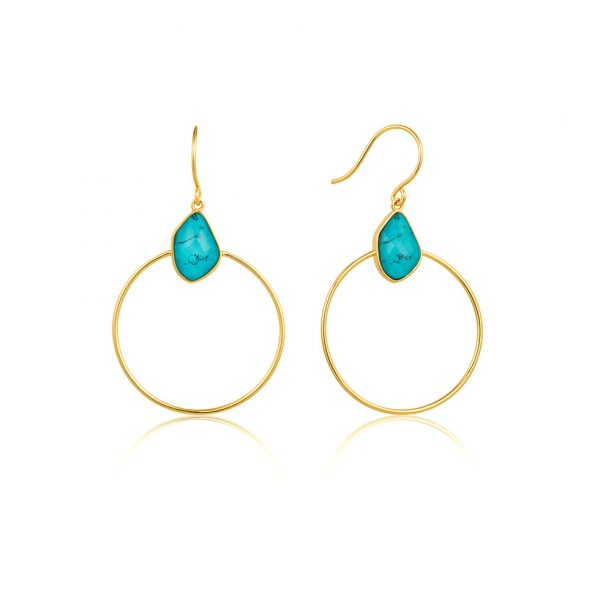 Mineral Glow Turquoise Front Hoops by Ania Haie