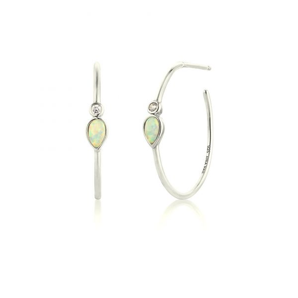 Mineral Glow Opal Color Raindrop Hoops by Ania Haie