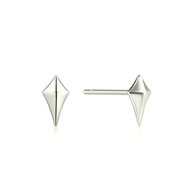 Diamond Shaped Stud Earrings by Ania Haie