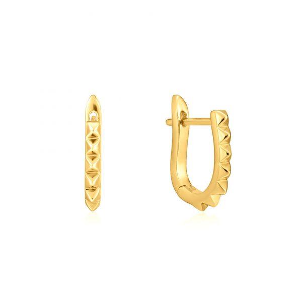 Spike Huggie Hoop Earrings by Ania Haie