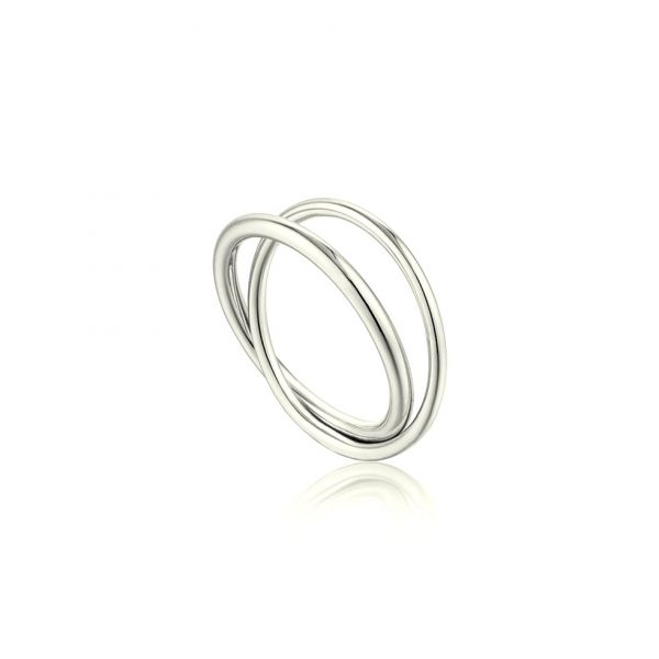 Modern Double Wrap Ring by Ania Haie
