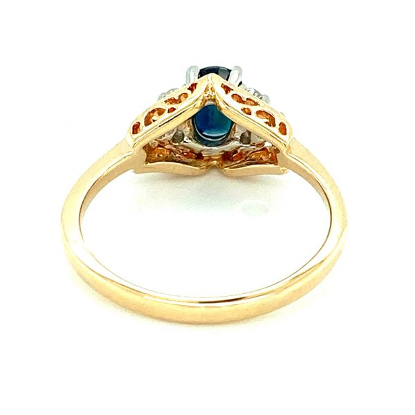 Estate Oval Sapphire and Diamond Ring