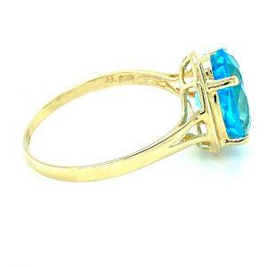 Estate Oval Blue Topaz Ring