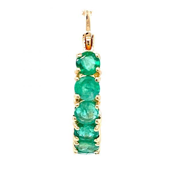 Estate Emerald Hoop Earrings