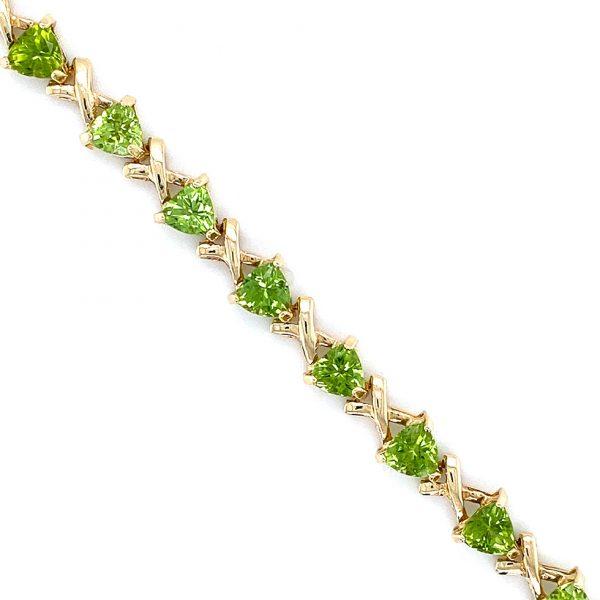 Estate Peridot Link Bracelet