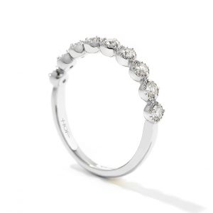Diamond Bar Single Prong Band by Hearts on Fire