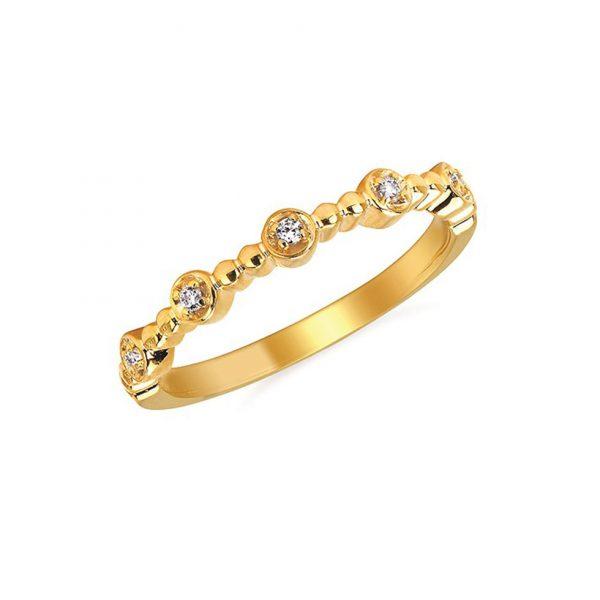 Bezel Set Diamond Stack Ring