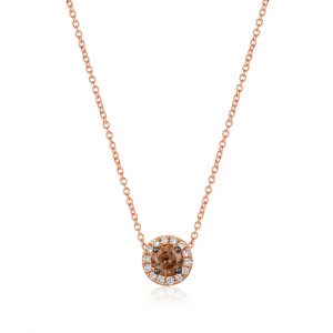 Chocolate and Vanilla Diamond® Halo Pendant by Le Vian®