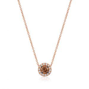 Chocolate and Vanilla Diamond® Halo Pendant by Le Vian®
