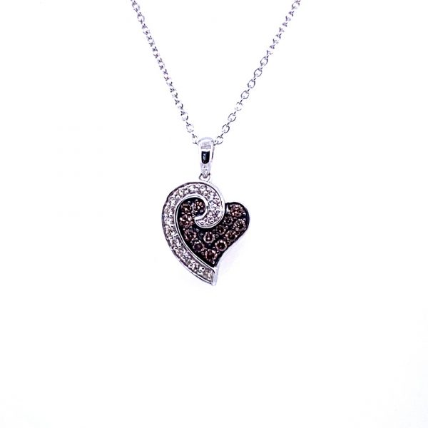 Chocolate and Vanilla Diamond® Heart Pendant by Le Vian®