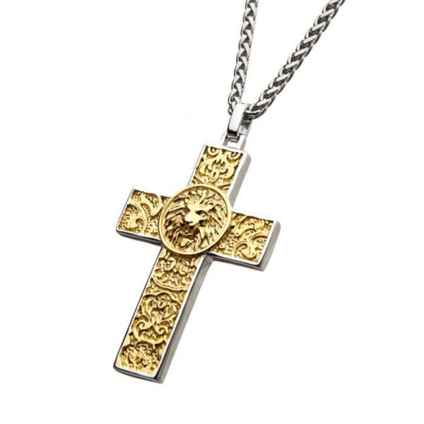 Nymeria Lion Cross Pendant by INOX