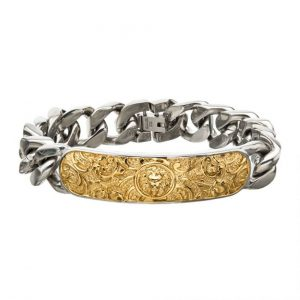 Nymerian Lion Engraved ID Bracelet by INOX