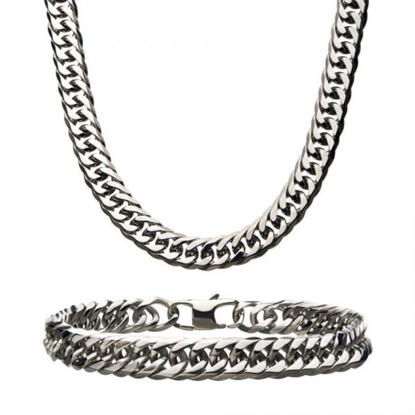8MM Steel Double Curb Link Chain Set by INOX