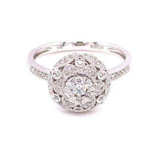 Vintage Inspired Diamond Ring by Effy