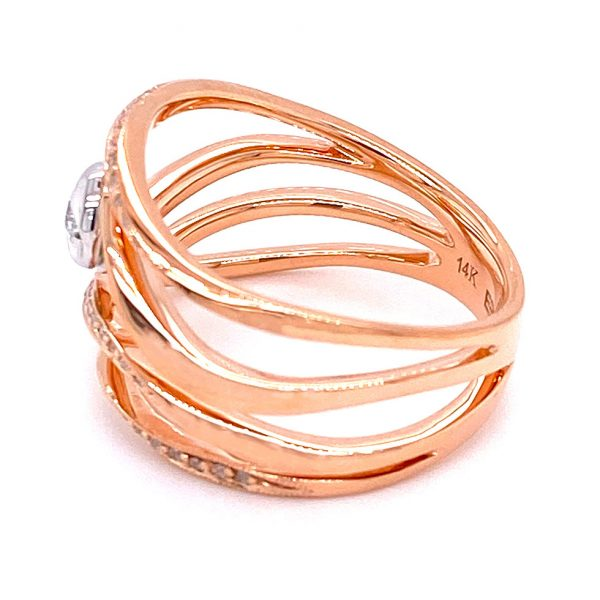 Diamond Ribbon Wide Band by Effy