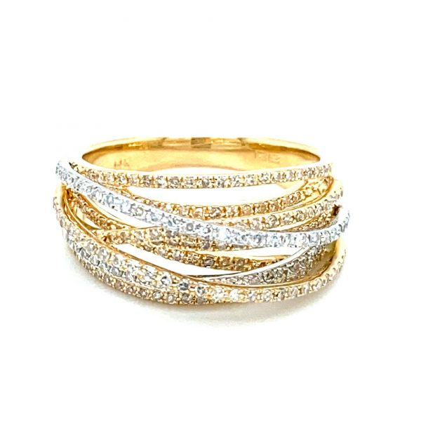Two-tone Diamond Crossover Ring by Effy