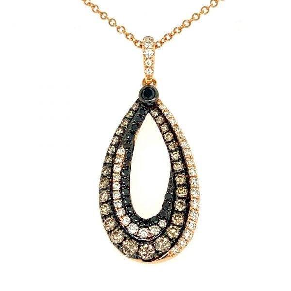 Open Teardrop Diamond Pendant by Effy