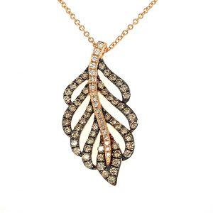 Diamond Leaf Pendant by Effy