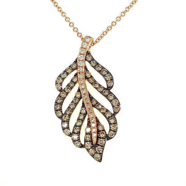 Diamond Leaf Pendant by Effy