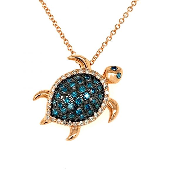 Diamond Sea Turtle Pendant by Effy