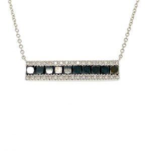 Black and White Diamond Bar Pendant by Effy