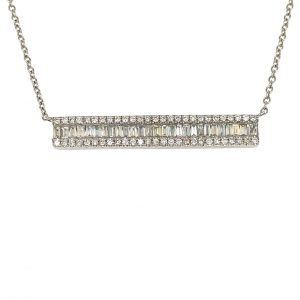 Diamond Bar Pendant by Effy