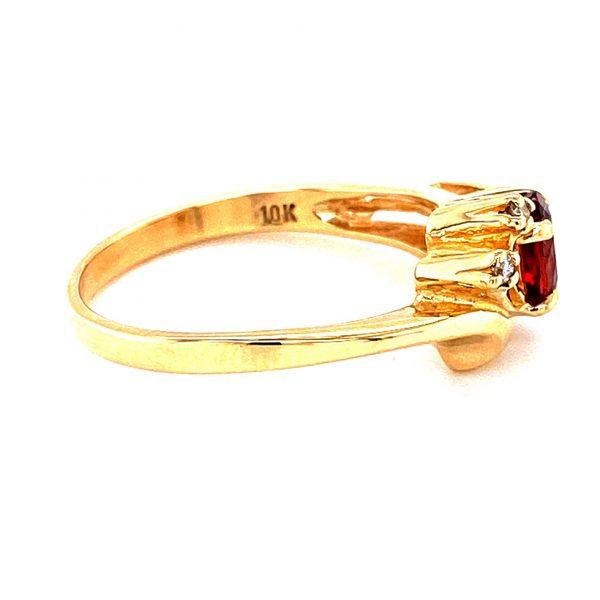 Estate Oval Garnet and Diamond Ring