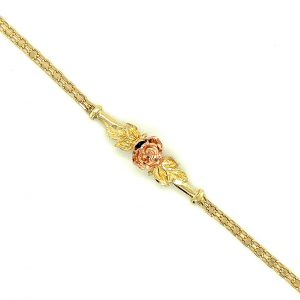 Estate Gold Flower Bracelet