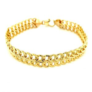 Estate Double Row S-Link Mesh Bracelet