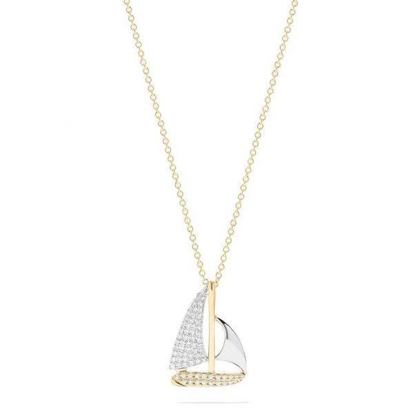 Diamond Sail Boat Pendant by Effy
