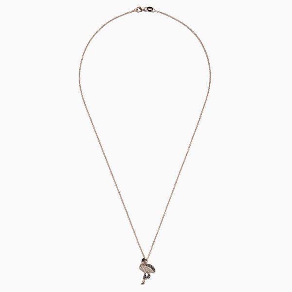 Diamond Flamingo Pendant by Effy