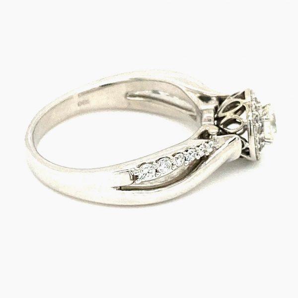 Estate Double Halo Engagement Ring