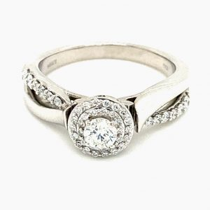 Estate Double Halo Engagement Ring