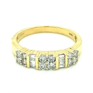 Estate Baguette and Round Diamond Band