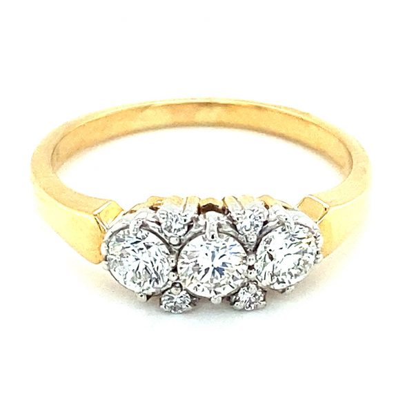 Estate Bezel and Prong Set Diamond Band
