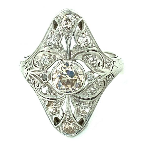 Estate Pink-Brown Diamond Ring