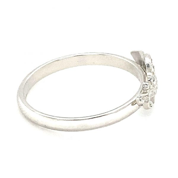 Estate Diamond Scimitar Ring