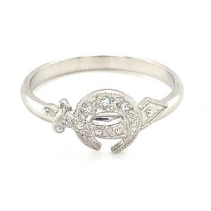 Estate Diamond Scimitar Ring
