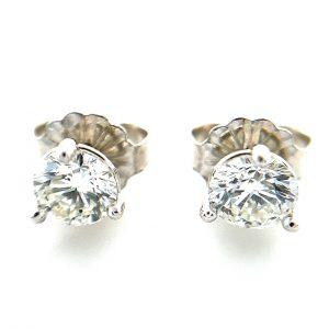 Estate Diamond Solitaire Studs